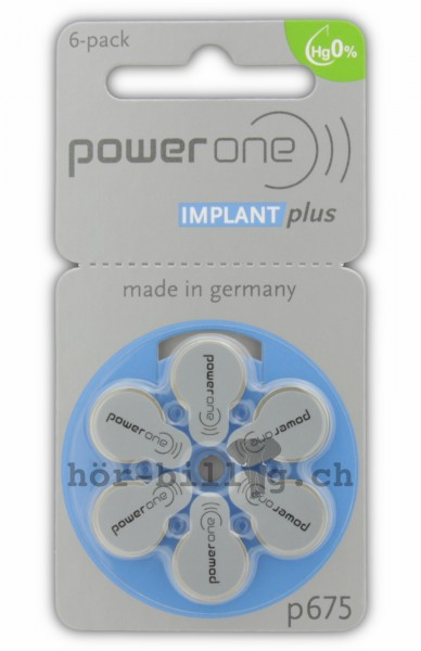 Ein Blister power one Implant Plus 675 Cochlear